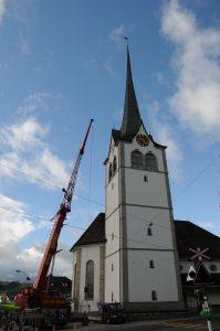 Die reformierte Kirche in Teufen/CH.